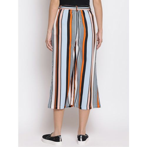 WISSTLER pleat detail striped culotte