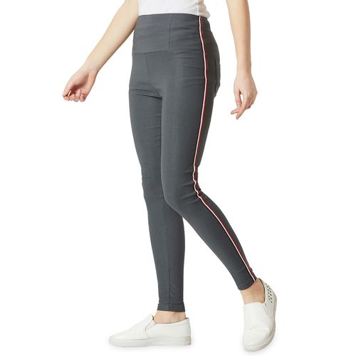 Miss Chase side tape high rise jeggings