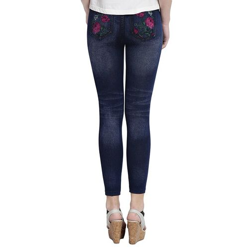 CAMEY blue printed cotton jegging