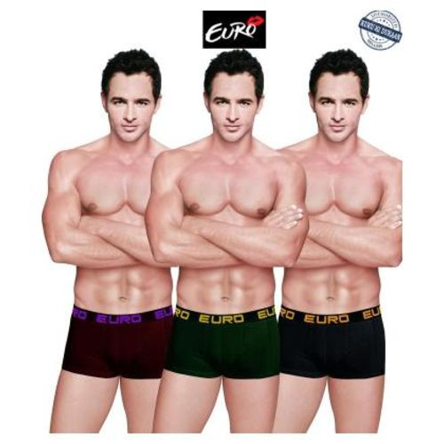 Euro Solid Trunks - Multi,Pack Of 3 by Kuku Ki Dukaan