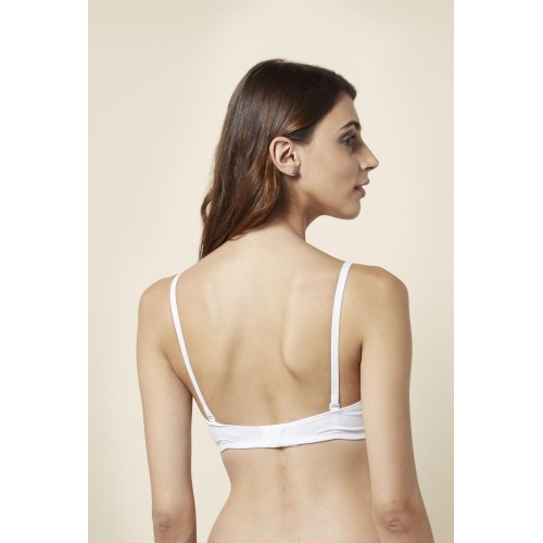 Buy Little Lacy White Solid Non Padded Bra online  69cc6c905