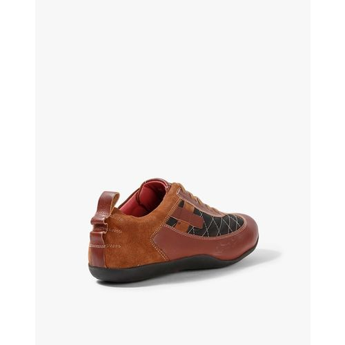 RED CHIEF Quilted Leather Lace-Up Shoes