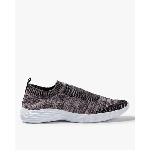 AJIO Textured Low-Top Sock Casual Shoes