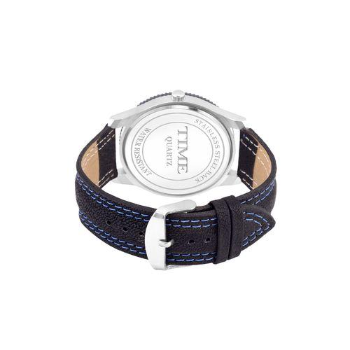 Time Quartz round dial analog watch (tfgxblu09)