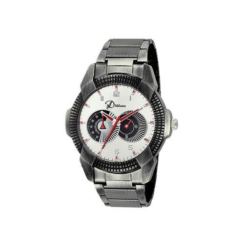 d'milano men black stainless steel analog watch