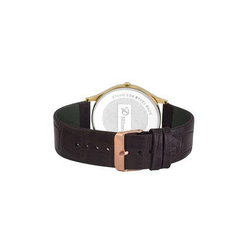 d'milano men royal slim gold analog watch