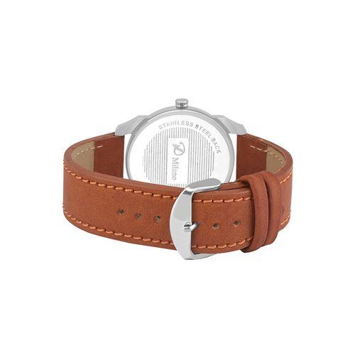 d'milano men royal khaki sports analog watch