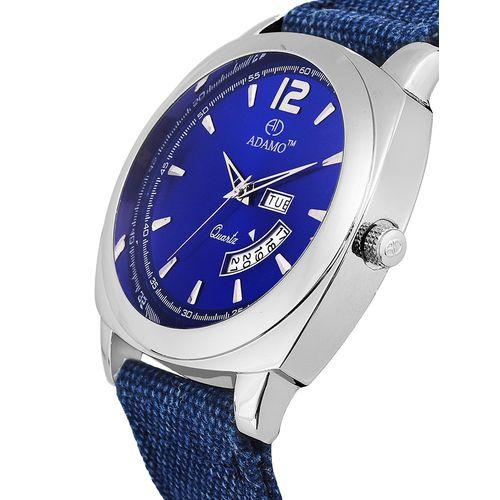 adamo (day & date) geneva men's wrist watch a331sb05
