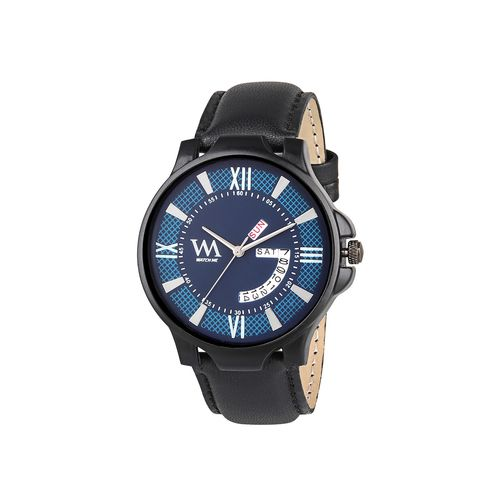 wm leather strap analog watch ddwm-004bys