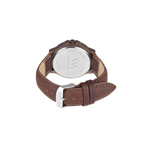 wm leather strap analog watch ddwm-023