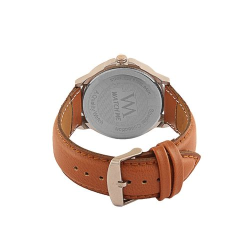 wm day date series black analog leather quartz watch for men and boys with working day/date ddwm-007