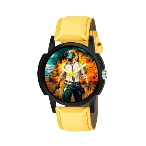 eraa pubg round dial analog watch-(puerne-558)