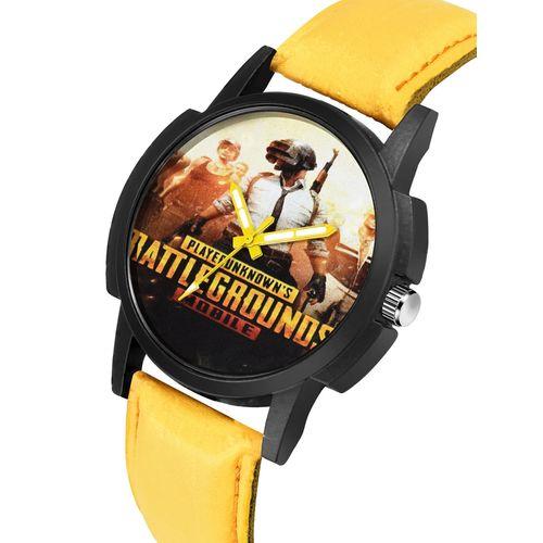 eraa pubg round dial analog watch-(puerne-581)