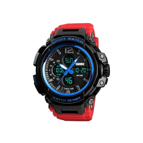 skmei 1343 khaki wrist watch for men