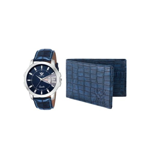 lorenz cm-203wl-06 combo of analog watch and wallet