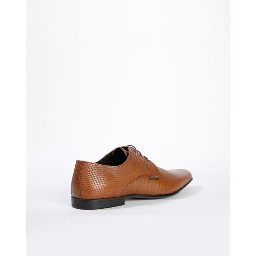 RED TAPE Textured Leather Lace-Up Formal Shoes