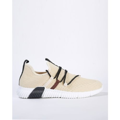 AJIO Textured Lace-Up Shoes