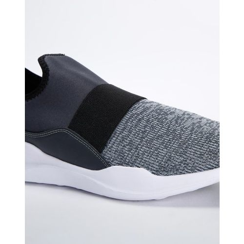 AJIO Textured Slip-On Sports Shoes