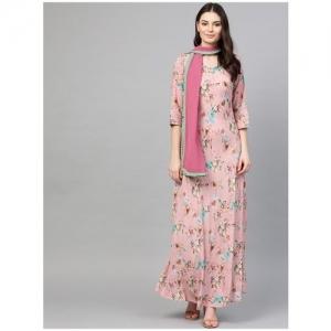 Shree Women Pink Kuri With Scarf by SHR Lifestyles