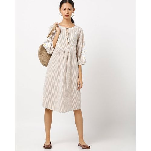 PROJECT EVE WESTERN WEAR Striped Dress with Drop Sleeves