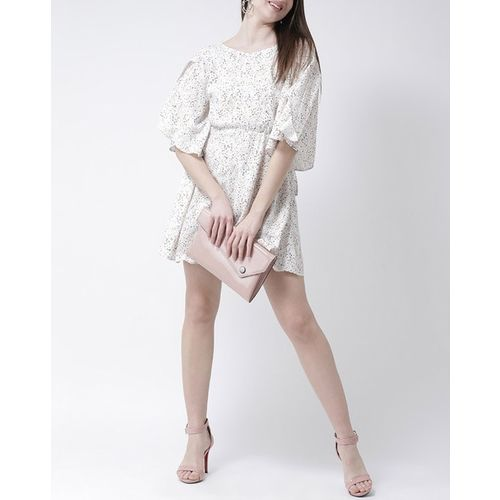 The Vanca Printed Skater Dress with Flared Sleeves