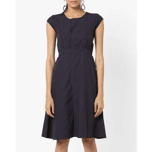 AJIO A-line Dress with Back Tie-Up
