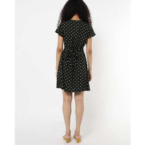 RIO Novelty Print Mini A-line Dress