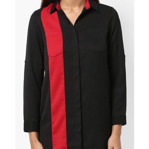 AJIO Panelled Shirt Dress