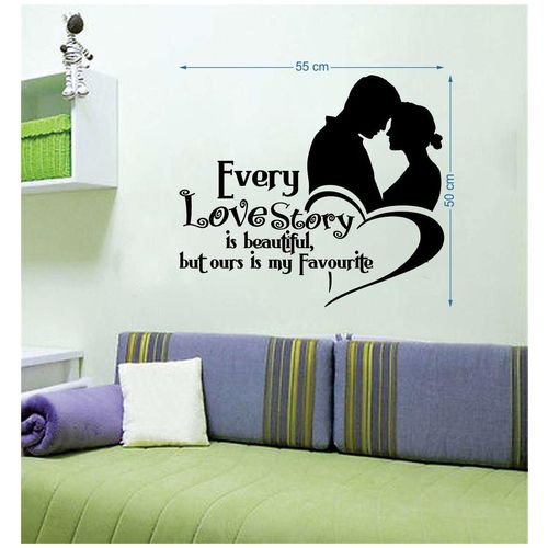 EJA Art Love Story Wall Sticker by Deepa Negi