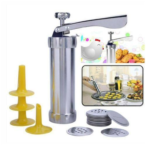 Biscuit Maker Cookies Press Cake Decorator Pump Machine Kit Icing Syringe B12 by Stelcore