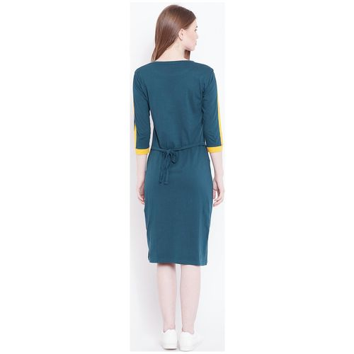 THE DRY STATE Blue Solid Bodycon dress by The Dry State
