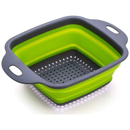 Mukta Enterprise Foldable Strainer Basket Collapsible Colander Square Shape Drainer Basket pack of 1 by Mukta Enterprise