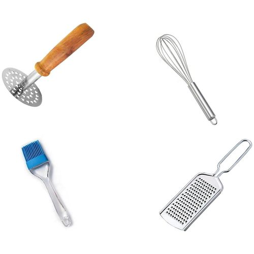 Kitchen4U Stainless steel Assorted Kitchen Tool Combos ( Set of 4 ) by Kitchen 4u