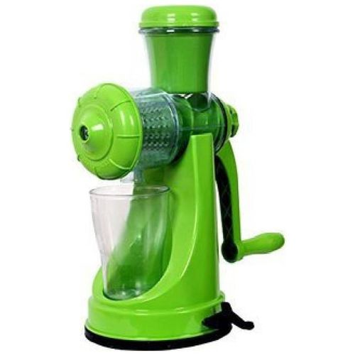 MARKETWALA Fruit And Vegetable With Steel Handle And Waste Collector Plastic Hand Juicer (Assorted Color Pack of 1) by Shubham Ads