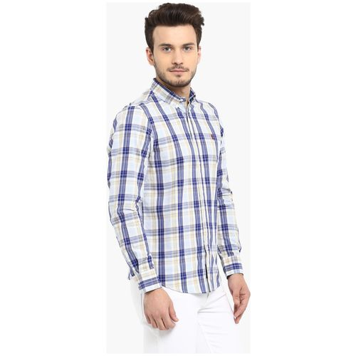 Red Tape Men Blue Checked Regular Fit Casual Shirt by Mirza Red Tape