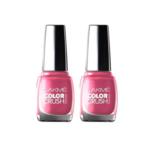 Lakme Set of 2 Truewear Color Crush 18 Nail Polishes