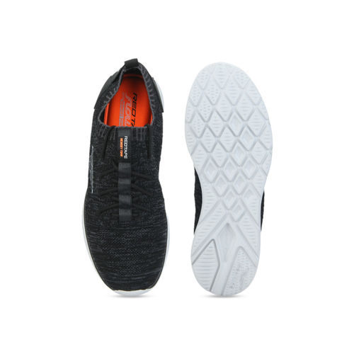 Red Tape Men Black Textile Memory Foam Lightweight Walking Shoes