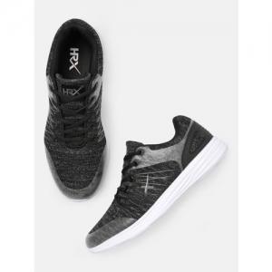 HRX by Hrithik Roshan Men Black Knit Run 1.0 Running Shoe