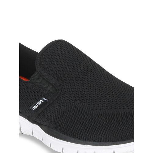 Red Tape Men Black Walking Shoes