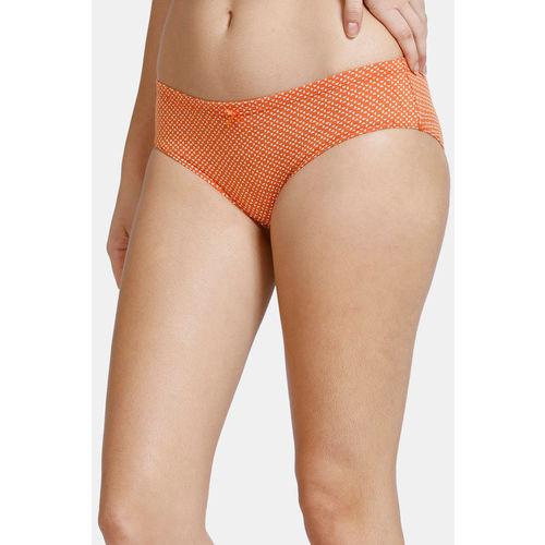 Zivame (Pack of 3) Bikini Low Rise Anti-Microbial Panty - Red Orange Peach Pt