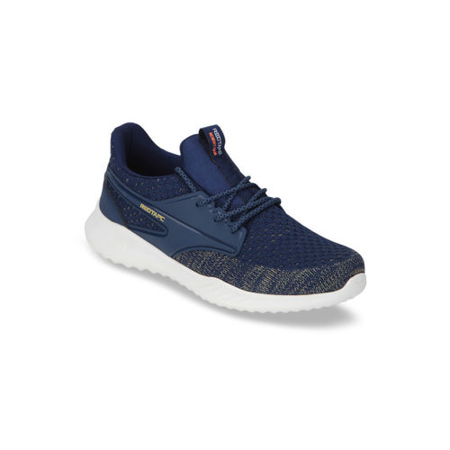 Red Tape Men Navy Blue & Grey Textile Walking Shoes