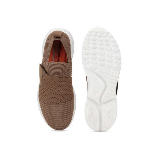 Red Tape Men Brown Textile Memory Foam Walking Shoes