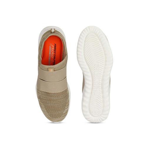 Red Tape Men Beige Textile Memory Foam Walking Shoes