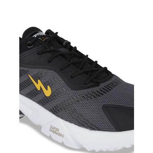 Campus Men Black PRESTIGE Mesh Running Shoes