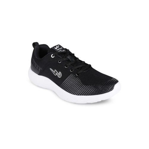 Campus Men Black Mesh Lebron Running Shoes