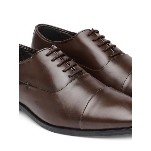INVICTUS Men Brown Formal Oxford Shoes
