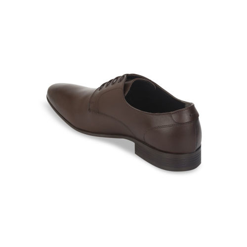 Red Tape Men Coffee Brown Solid Formal Leather Derbys