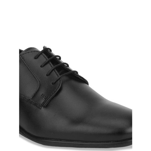 Bond Street By Red Tape Men Black Solid Formal Derbys