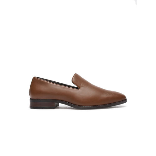 INVICTUS Men Tan Formal Slip-On Shoes