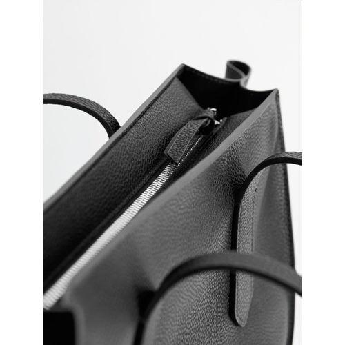 MANGO Black Solid Shoulder Bag